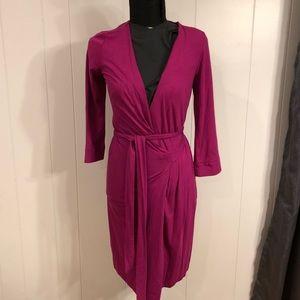 DIANEvonFURSTENBERG. Fuchsia Wrap Dress